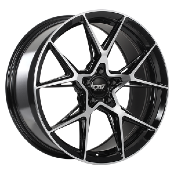Gravity Gloss Black - Machined Face 20x9.0 et35 cb73.1