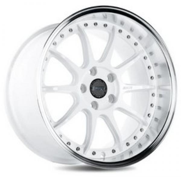 CS12 GLOSS WHITE/MACHINED LIP 18x8.5 5x114.3 et30 cb72.6