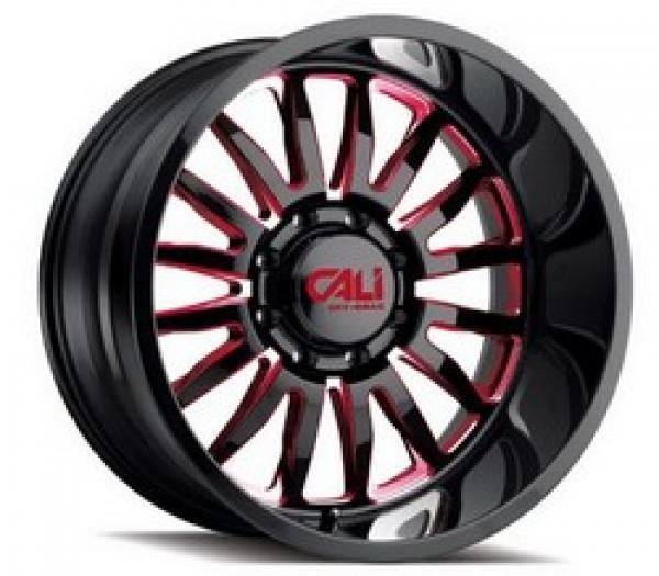 SUMMIT GLOSS BLACK/RED MILLED SPOKES