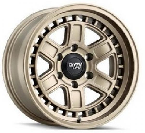DIRTY LIFE CAGE MATTE GOLD 17x8.5 5x127 et-6 cb78.1